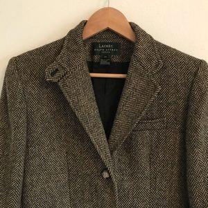 Lauren Ralph Lauren wool blazer w/ awesome buttons